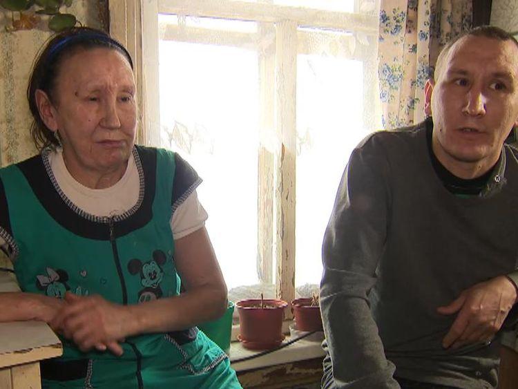 Faina Votkiova and her son Vadim