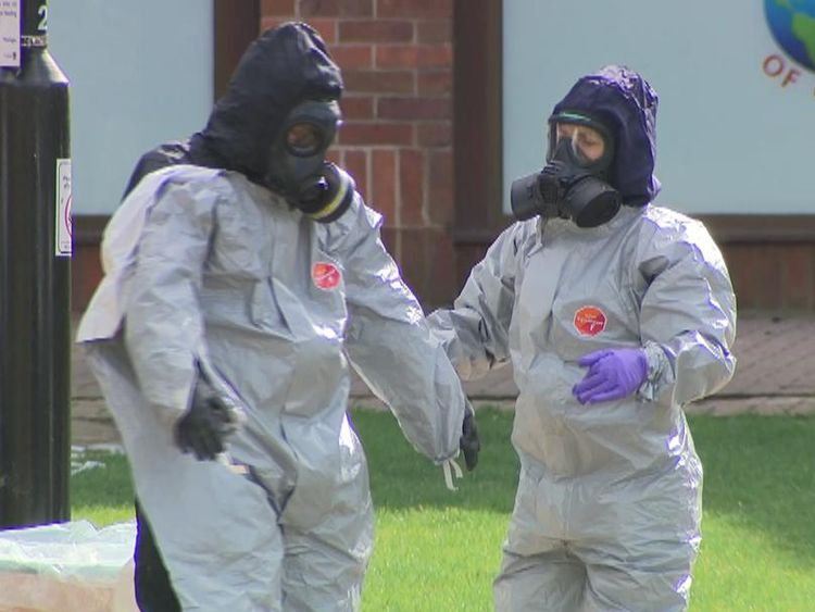 """A woman who heckled Prime Minister Theresa May during her visit to Salisbury this week has told Sky News """"people want to see the evidence"""" behind the nerve agent attack. - sky package"""