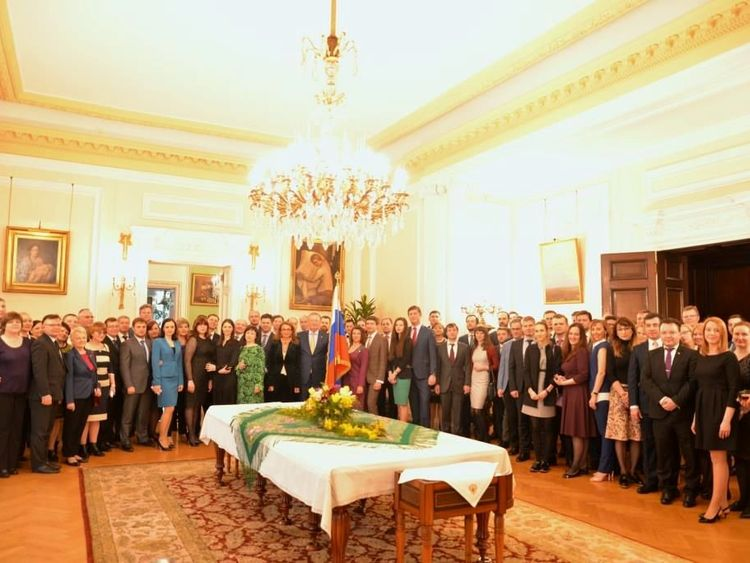 Staff at Russia's Embassy attend a reception hosted by ambassador Alexander Yakovenko for the 23 diplomats who are being expelled by Britain's government