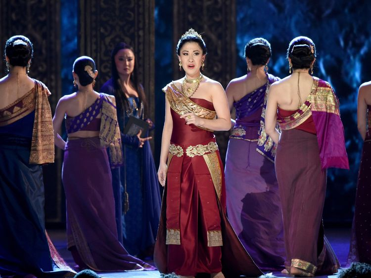 Ruthie Ann Miles and the cast of 'the King and I' perform onstage at the 2015 Tony Awards at Radio City Music Hall on June 7, 2015 in New York City