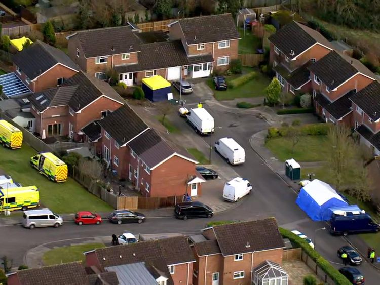 Police at Sergei Skripal's home