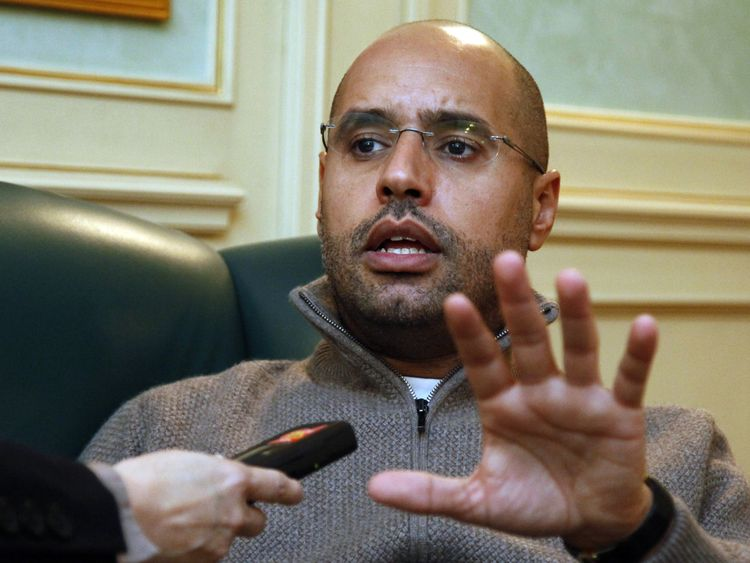 Saif al-Islam Kadhafi, son of Libyan leader Moamer Kadhafi, previously said Sarkozy took money