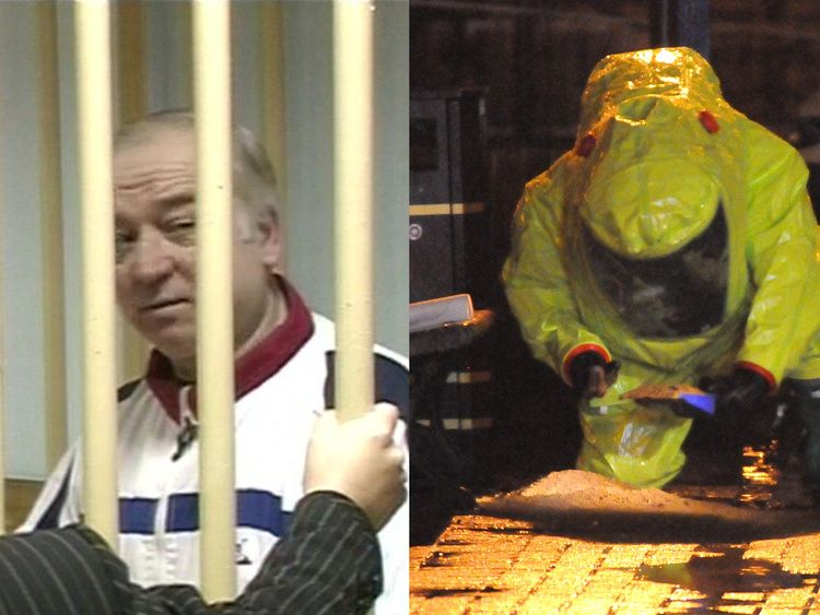 Sergei Skripal, 66, is critically ill after being exposed to an unknown substance in Salisbury, Sky sources believe
