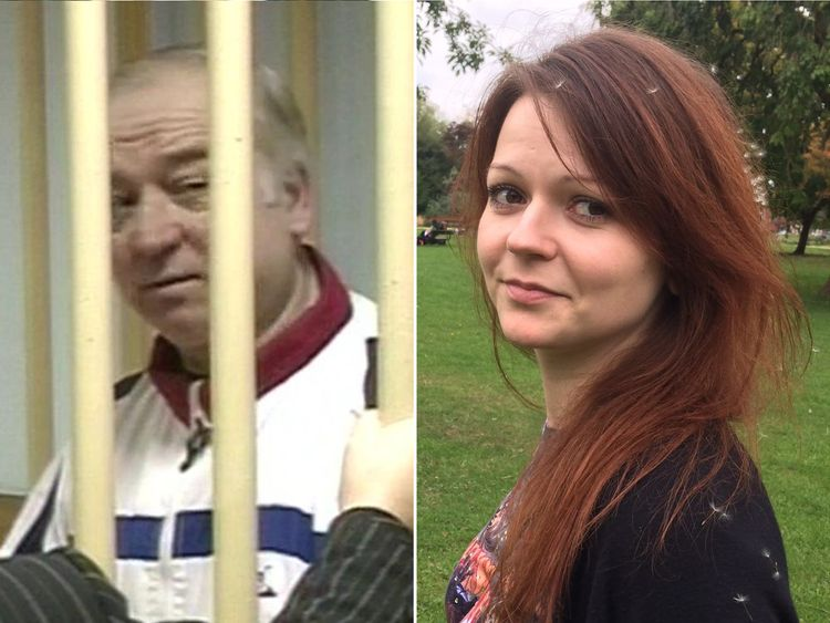 Composite of Sergei Skripal, 66, and his daughter Julia who are in a critical condition