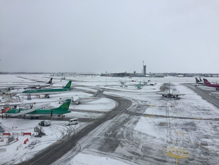 Dublin Airport has effectively been closed. Pic DublinAirport