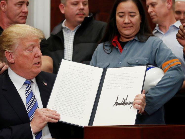 G7: May urges Trump re-think on steel tariffs