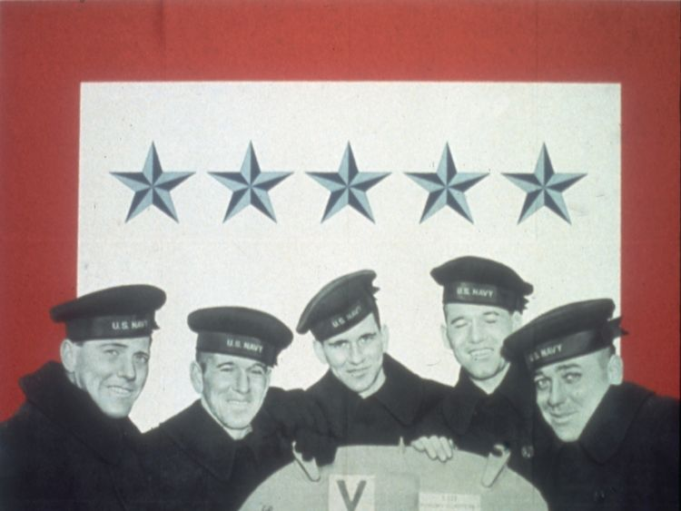 The five Sullivan brother served together on the USS Juneau