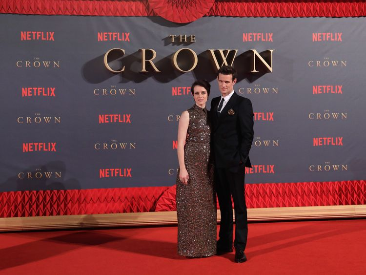 Claire Foy and Matt Smith at the World Premiere of season two of Netflix The Crown