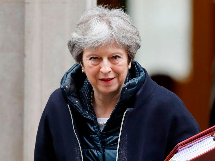 Theresa May leaves Downing Street on Wednesday afternoon following her weekly PMQs session in the Commons