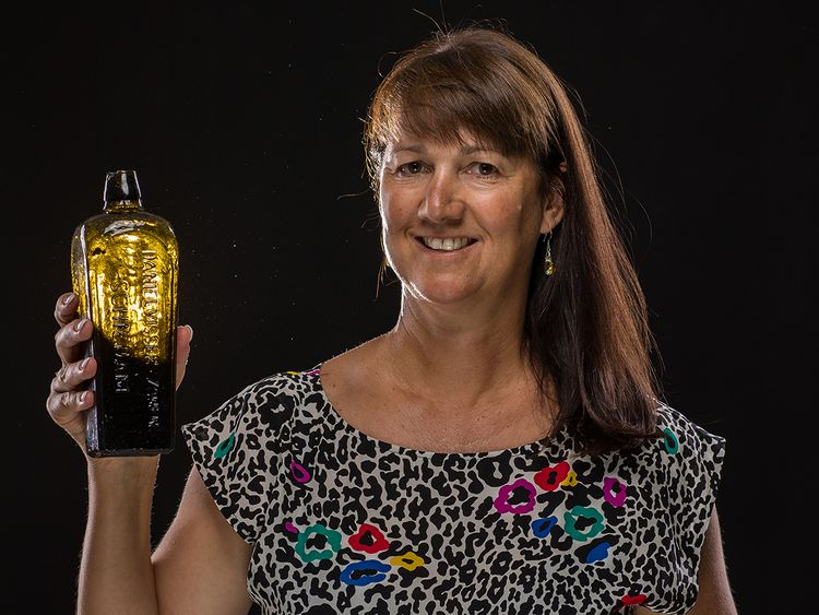 Tonya Illman was walking on the beach with a friend when they found the bottle. Pic: kymillman.com
