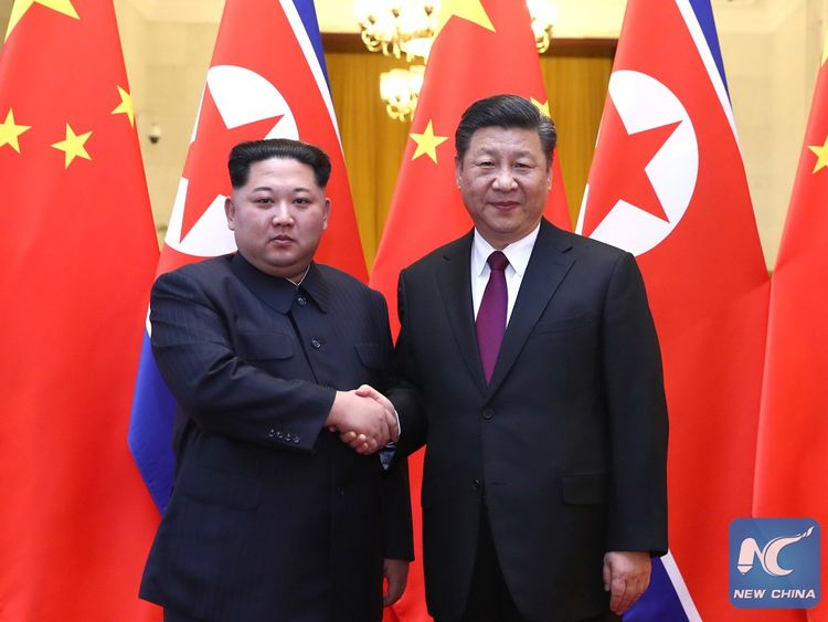 Xi Jinping and Kim Jong Un hold talks in Beijing. Pc: China Xinhua News