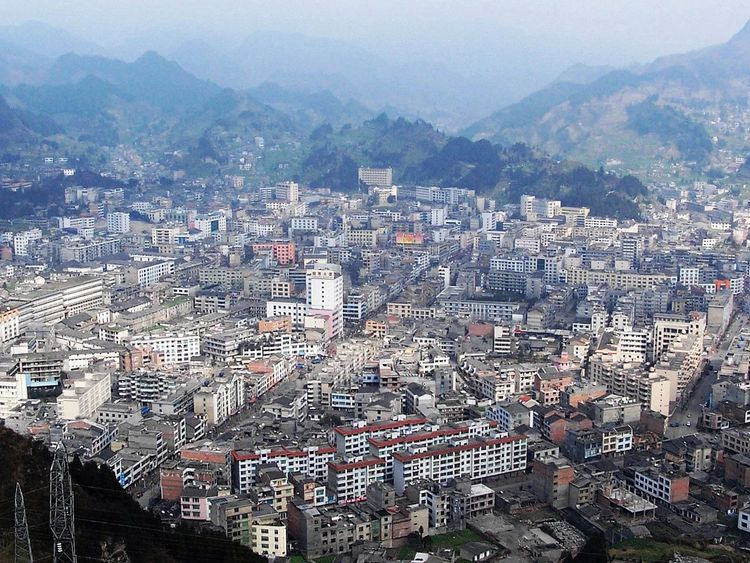 Zhaotong town, Yunnan province, China. Pic: Wikicommons/Icywater