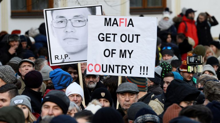The killings have sparked outrage in Slovakia