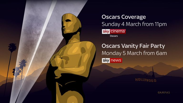 Sky News special coverage of the Oscars in March 2018