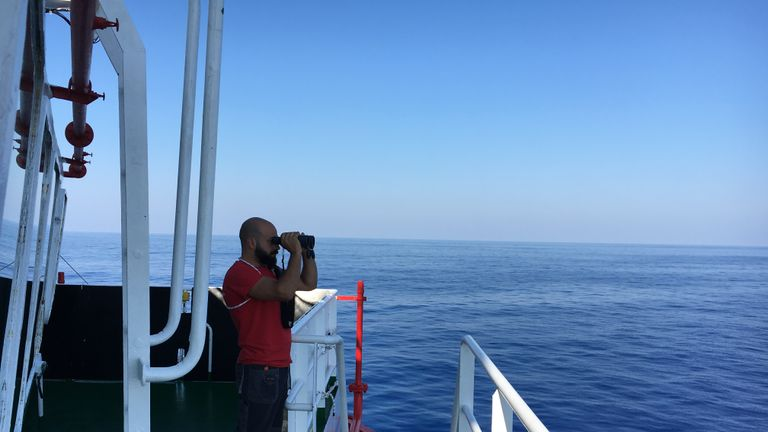 Ahmad Imam On Save the Children's rescue vessel in Mediterranean Sea, 2017