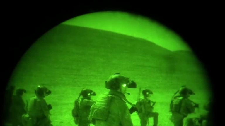 US Special Forces during a raid against IS-linked fighters in Afghanistan