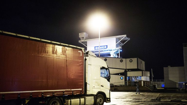 Lorry  at sea port