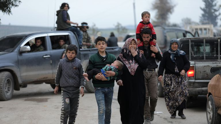 Turkish strikes on Afrin have led to 104,000 people fleeing the north eastern town