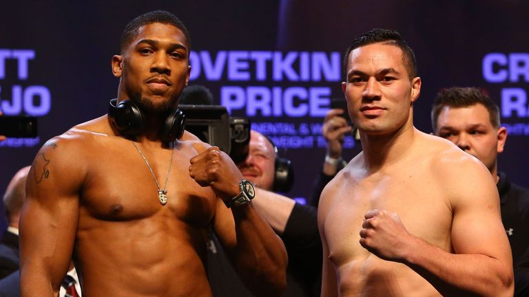 Anthony Joshua said fans would be 'in for a good fight'