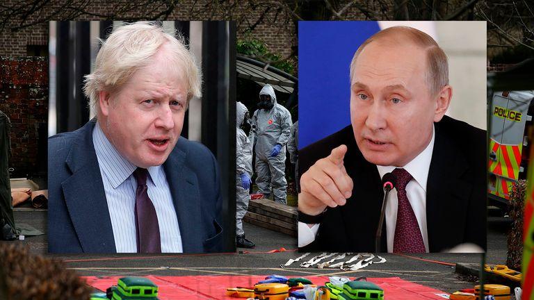Boris Johnson and Vladimir Putin