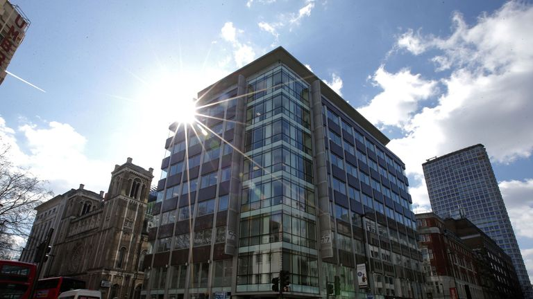 The shared building which houses the offices of Cambridge Analytica are pictured in central London on March 21, 2018. The academic behind the app which harvested data from 50 million Facebook users said Wednesday he was being used as a scapegoat in the row over online privacy. Aleksandr Kogan said that British firm Cambridge Analytica, which is at the centre of a major scandal rocking Facebook, assured him that what he was doing was 'perfectly legal and within the terms of service' of the social