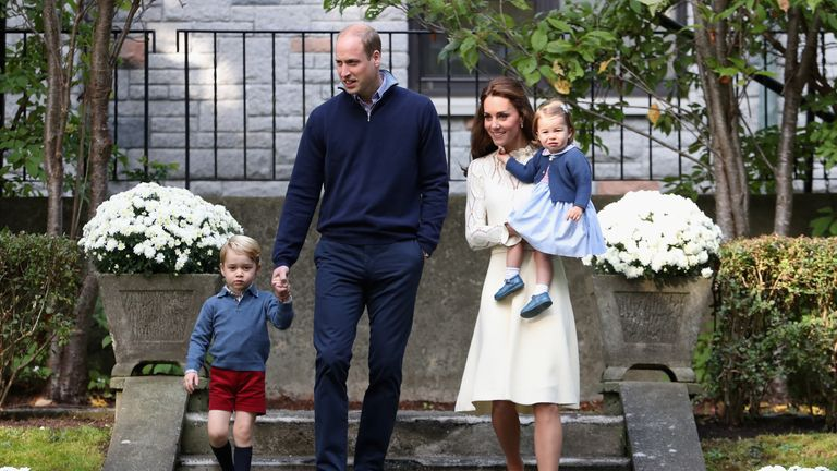George and Charlotte attend a garden party on tour in Canada