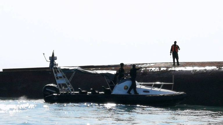 The sailors were rescued 50 hours after the dredger capsized
