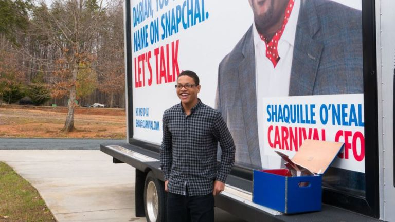 Carnival Cruise went to the small Virginia town of Prospect this week to find Darian Lipscomb, who is a big fan of the company, and ask him to hand over the handle @CarnivalCruise.