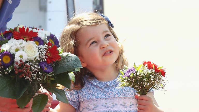 Princess Charlotte in Berlin on royal tour