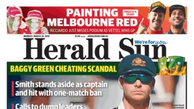 The Herald Sun called for the entire team to be sacked