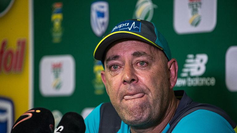 Darren Lehmann cried as he announced he would step down after the current tour of South Africa