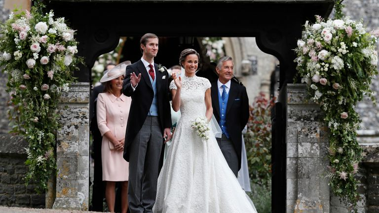 David Matthews at Pippa Middleton's wedding