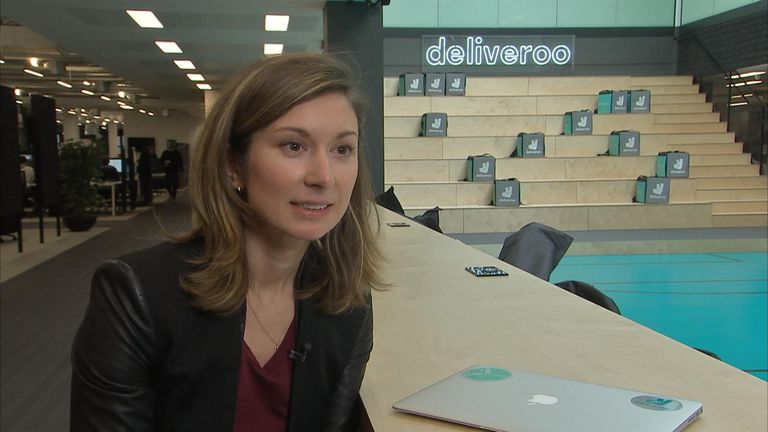 Emma Cox said Deliveroo want to deliver food in the 'best way possible'