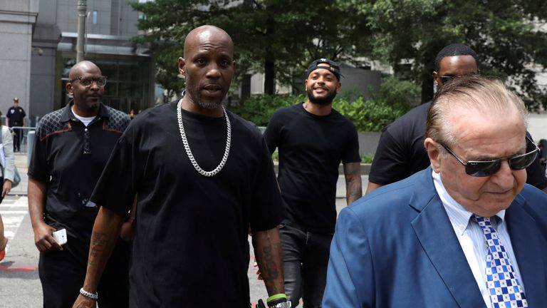 The rapper leaves the Federal Court in Manhattan