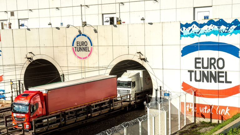 Eurotunnel freight tunnel