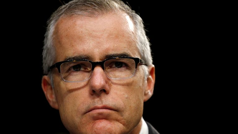 Former FBI director Andrew McCabe was fired 26 hours before he was due to retire