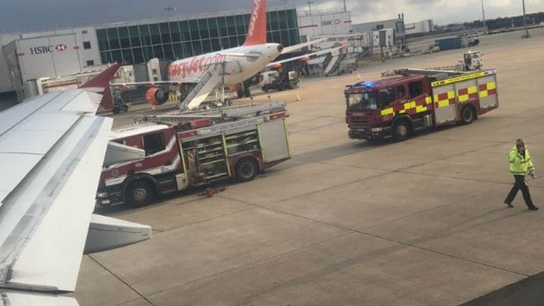 Emergency services at Gatwick Airport