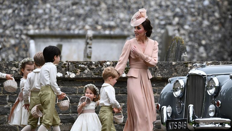 Prince George and Princess Charlotte were involved in the wedding day