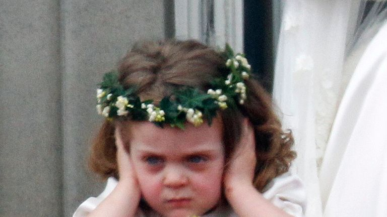 Flower girl Grace van Cutsem is not a fan of Royal weddings