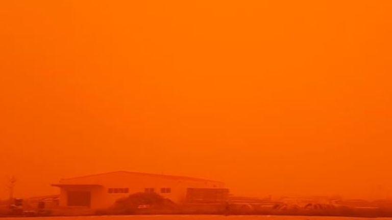 Sahara dust has swept across the Mediterranean Sea to Greece