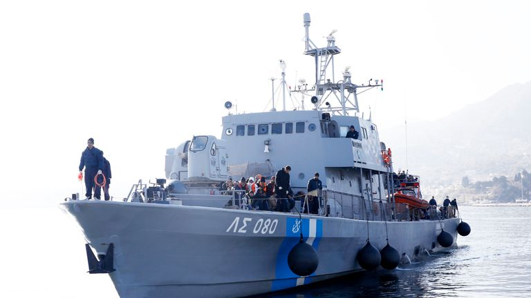 Greek Coast Guard vessel