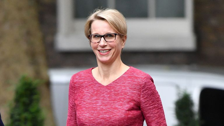 GlaxoSmithKline (GSK) CEO Emma Walmsley arrives to attend a Business Advisory Council at 10 Downing Street in central London on October 9, 2017.
