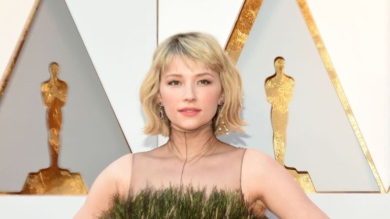Haley Bennett arrives for the 90th Annual Academy Awards on March 4, 2018, in Hollywood, California