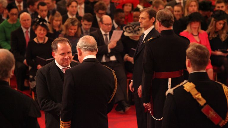 Henry Dimbleby was awarded an MBE in 2015