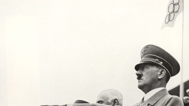 Adolf Hitler at the 1936 Olympics in Berlin