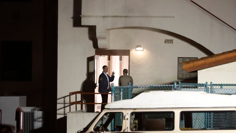 Police enter the Veterans Home of California