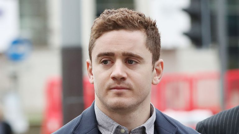 Paddy Jackson arriving at court where he gave evidence