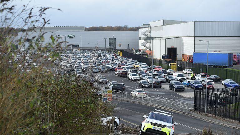Jaguar Land Rover's Solihull manufacturing plant in Birmingham