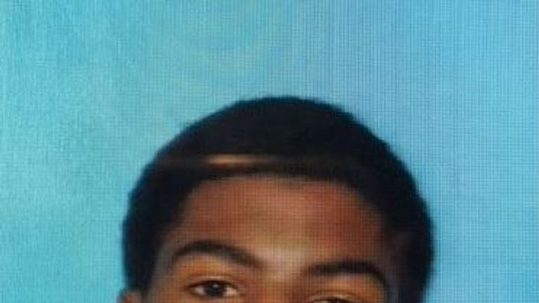 James Eric Davis Jr is suspected of shooting two people dead at Central Michigan University. Pic: Police