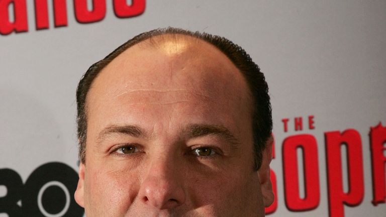 James Gandolfini, who died in 203, pictured at a Sopranos premiere in 2006